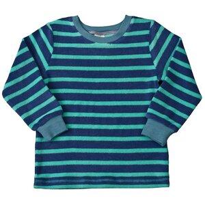 Frotteepyjama - blau geringelt - People Wear Organic