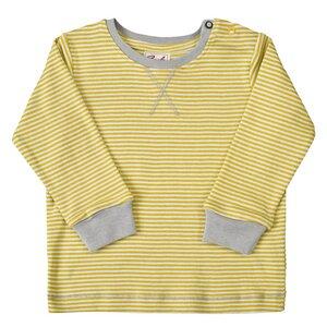 Gelb geringeltes Langarmshirt - aus Bio-Baumwolle - People Wear Organic