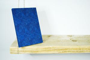 A5 Notizbuch, Skizzenbuch, 100% Bio-Baumwolle, 'Dance Blue' - Biostoffe Berlin by Julie Cocon