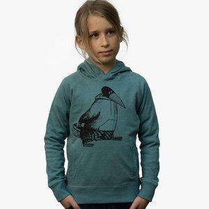 Blaubeer Stig hoodie heather eucalyptus - Cmig
