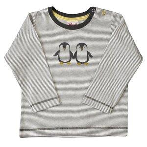 Langarmshirt - grau geringelt mit Motivdruck - People Wear Organic