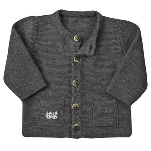 Baby Strickjacke - dunkel grau - People Wear Organic