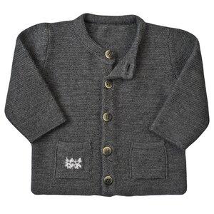 Baby Strickjacke - dunkel grau - People Wear Organic