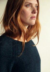 Raglan Sweater - 100% Baby Alpaka - Blue - Les Racines Du Ciel