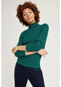 Daya Roll Neck Top Green - People Tree