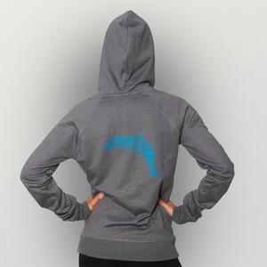 'Delfin' Recycled Unisex Zip Hoody - shop handgedruckt