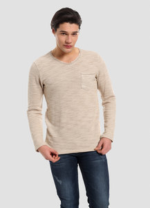 MOR-4077 HERREN SWEATSHIRT MIT BRUSTTASCHE - ORGANICATION