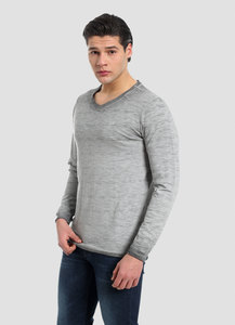 MOR-4120 HERREN GARMENT DYED LANGARM T-SHIRT - ORGANICATION