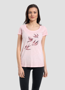 WOR-4133 DAMEN G.DYED T-SHIRT - ORGANICATION