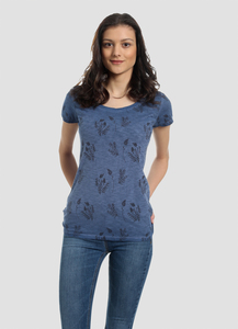 WOR-4140 DAMEN G.DYED T-SHIRT - ORGANICATION