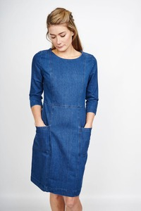 Erina Denim Shift Dress - bibico