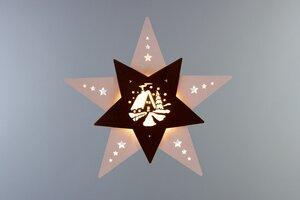 """Das Fensterbild Stern """"Waldhütte""""  mit LED Beleuchtung wunderschön - Weigla® Holzkunst"""