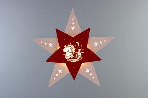 """Das Fensterbild Stern """"Knecht Ruprecht""""  mit LED Beleuchtung wunderschön - Weigla® Holzkunst"""