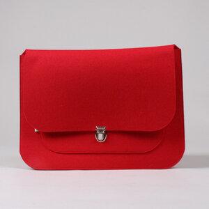 Mac-Book Tasche 'Apfel' rot - werkstatt-design