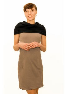 LASALINA - Kleid lang & Kleid kurz - 4inONE Original - Zweifarbig - LASALINA