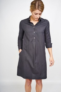 Colette Checked Shirt Kleid - bibico