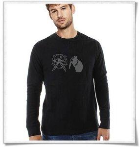 Hamster und der Hamsterrad  longsleeve, Langarm Shirt für Männer in Schwarz - Picopoc