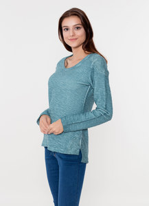 WOR-4055 DAMEN G.DYED SWEATSHIRT - ORGANICATION