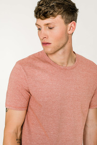 LINES / Micro-Striped T-Shirt (Rust/White) - Rotholz