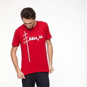 FellHerz Make some noise T-Shirt white/red - FellHerz