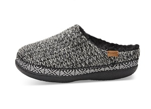 Black White Sweater Knit Womens Ivy Slipper - Toms