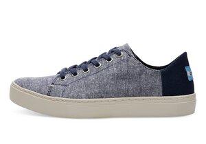 Navy Slub Chambray Lenox Sneaker - Toms