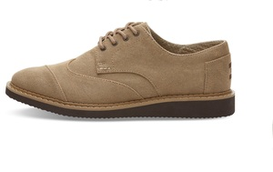 Toms - Toffee Aviator Twill Mens Brogue - Toms