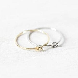 Knoten Ring 925er Sterling Silber vergoldet inkl Geschenkbox - Oh Bracelet Berlin