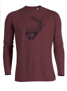 Longsleeve Riffle Animal Deer Timber - GreenBomb