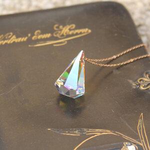 Rosé Cone Aurora, Regenbogen-Farbe, 925er Rosé-Silber - JuliaPilot
