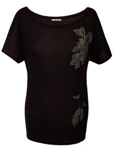 GYPSY FLOWER Shirt – schwarz - woodlike