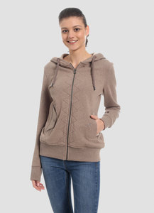 WOR-4052 DAMEN ZIPPER HOODIE - ORGANICATION