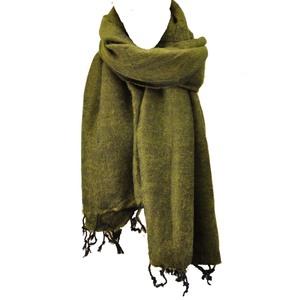 Pina - breiter Schal /Schaltuch mit 'Yakwolle' -  olivgrün - MoreThanHip