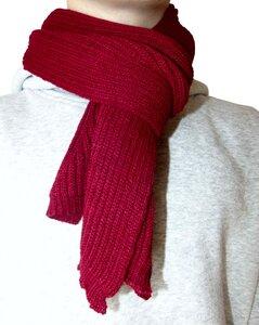 Alpaka Businessschal - rot - aus 100% Baby Alpaka  - Albwolle