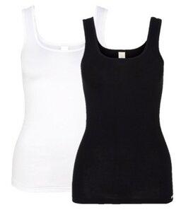 Doppelpack Unterhemd Achselträger weiß/schwarz - comazo|earth
