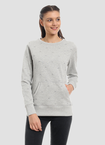 WOR-4160 DAMEN ALLOVER GESTRICKT SWEATSHIRT - ORGANICATION