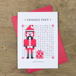 Grußkarte Weihnachtsmann - Bow & Hummingbird