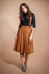 Faltenrock mit Trägern und Taschen 'SARAH' - SinWeaver alternative fashion