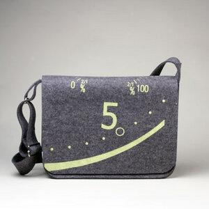 Laptoptasche 'Fünf' dunkelgrau meliert - werkstatt-design