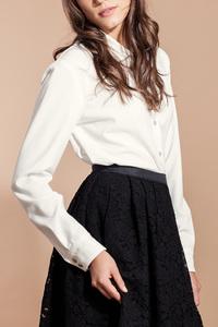 Hemdbluse mit Silber Bubi-Kragen - SinWeaver alternative fashion