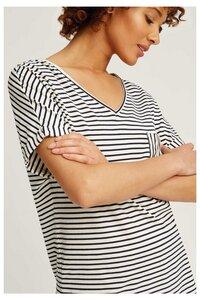 Stripe Pyjama Short Sleeve Top Navy - People Tree