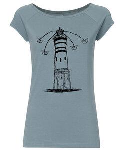 Biofaires Damen Raglan T-Shirt Lighthouse Circus - iced blue - ilovemixtapes