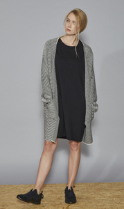 DONNA ANNA Cardigan - Black/White - Frieda Sand