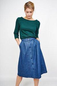 Oralie Denim Midi Skirt - bibico