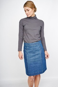 Caterina Denim Pencil Skirt - bibico