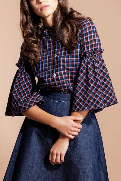 132e03285618 SinWeaver alternative fashion - Karierte Bluse knitterfrei aus ...