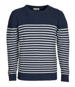 Strickpullover - Brave Breton Sweater - Blau / Weiß - Blue LOOP Originals