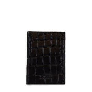 Passport Holder - Eco Classic Black Croco - O MY BAG