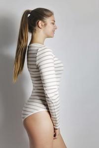 Bio Body 'Langli' weiß/ creme Streifen - Frija Omina