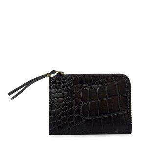 Coin Purse - Classic Black Croco - O MY BAG